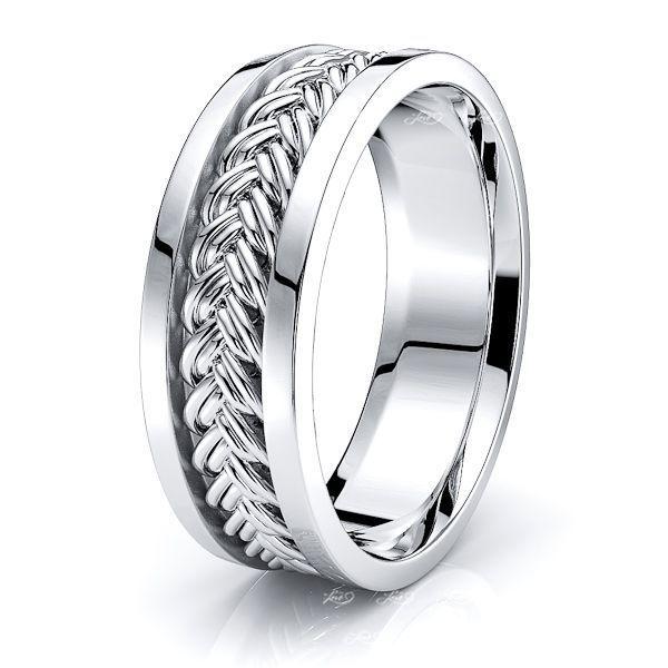 Tristan Hand Woven Mens Wedding Ring