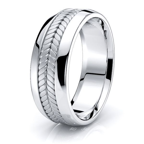 Jason Mens Hand Braided Wedding Band