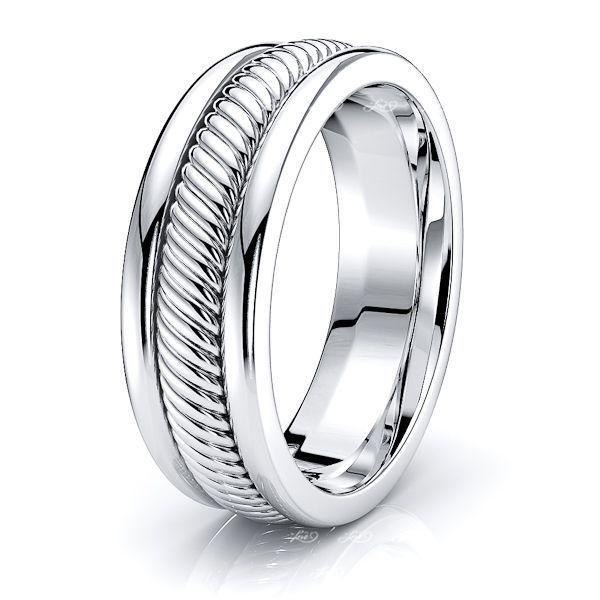 Xavier Hand Woven Mens Wedding Ring