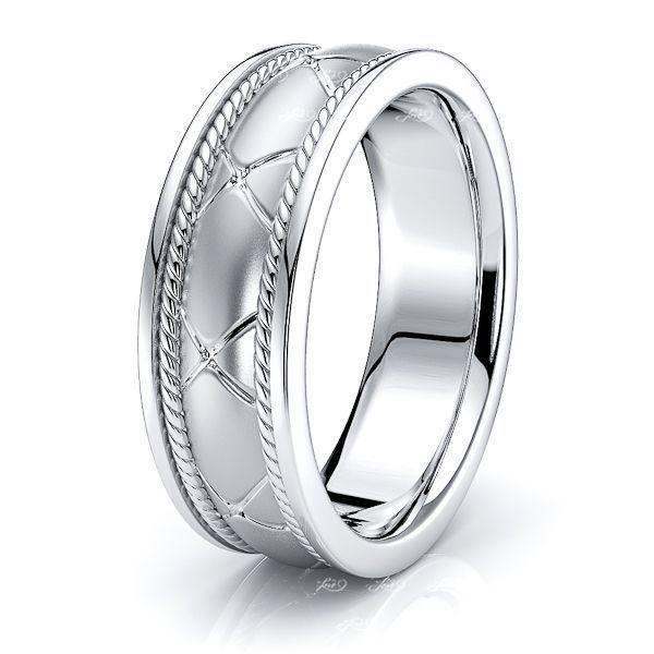 Ryder Hand Woven Mens Wedding Ring