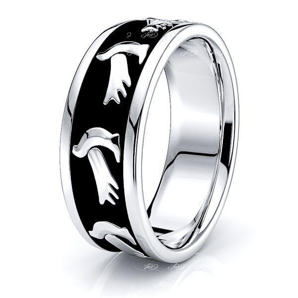 Milo Dove Motif Religious Mens Wedding Band