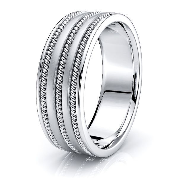 Soren Hand Woven Mens Wedding Ring