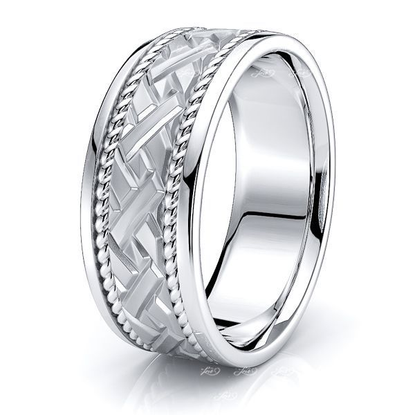 Roman Mens Hand Braided Wedding Ring