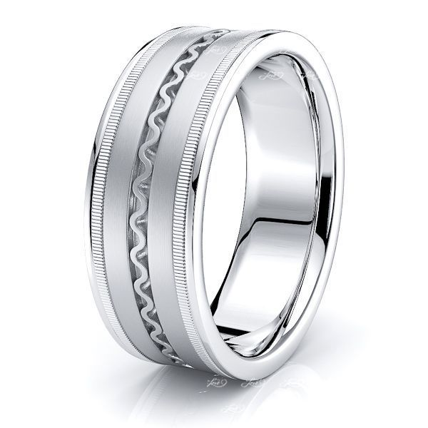 Nash Hand Woven Mens Wedding Ring