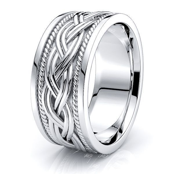 Graham Hand Woven Mens Wedding Ring