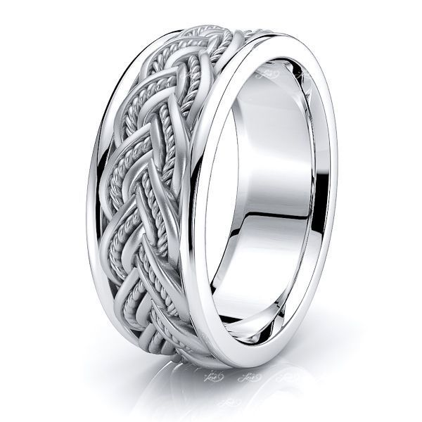 George Hand Woven Mens Wedding Ring