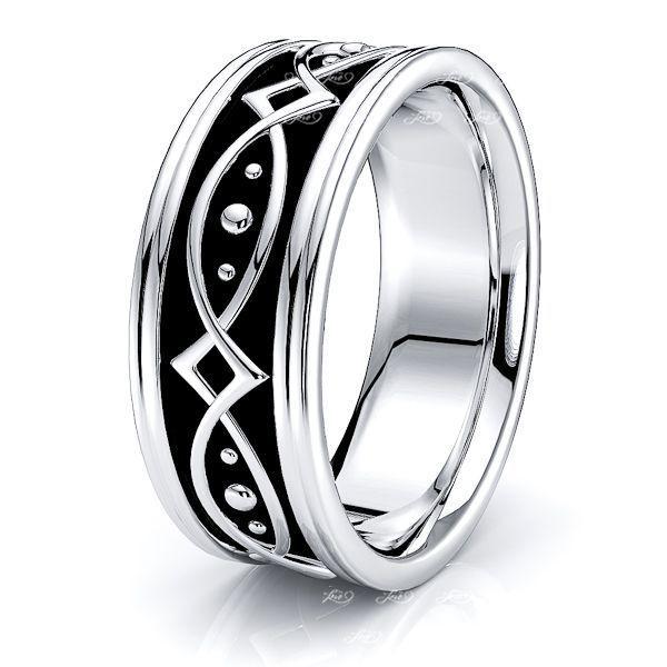 Bennett Hand Woven Mens Wedding Ring