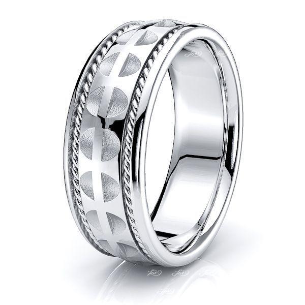 Bastian Hand Woven Mens Wedding Ring