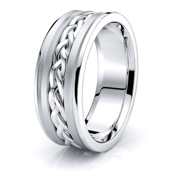 Cassius Hand Woven Mens Wedding Ring