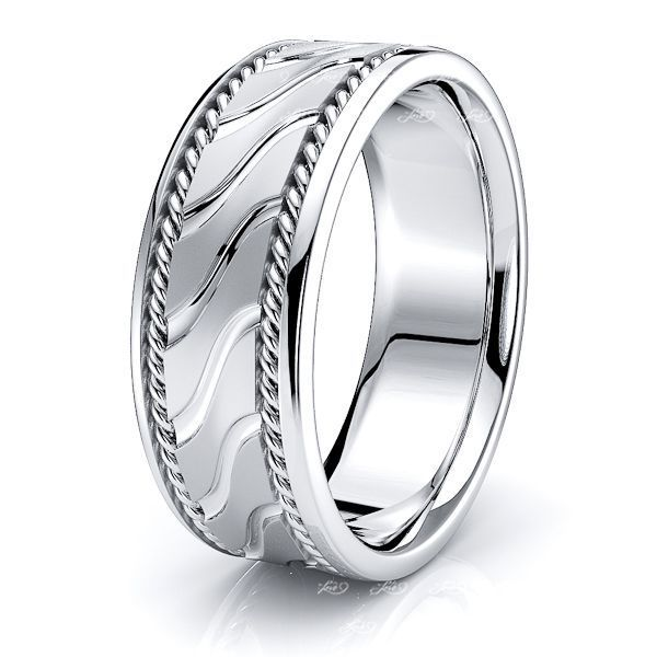 Lennox Mens Hand Braided Wedding Band