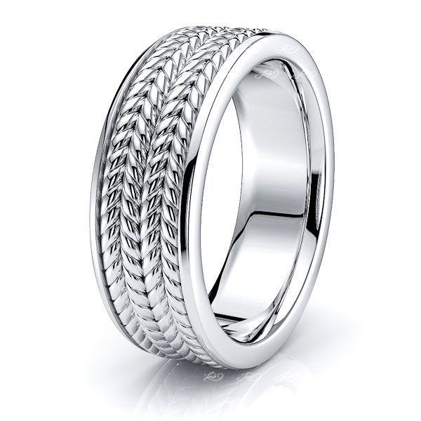 Amias Hand Woven Mens Wedding Ring
