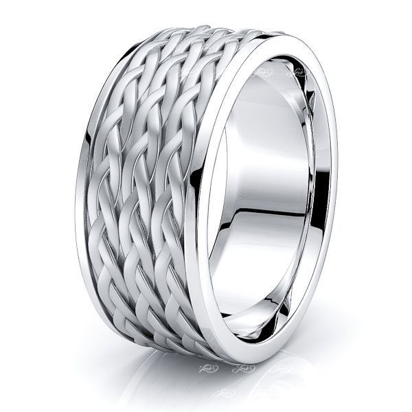 Maddox Mens Hand Braided Wedding Ring