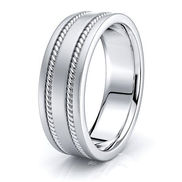 Lucius Mens Hand Braided Wedding Ring