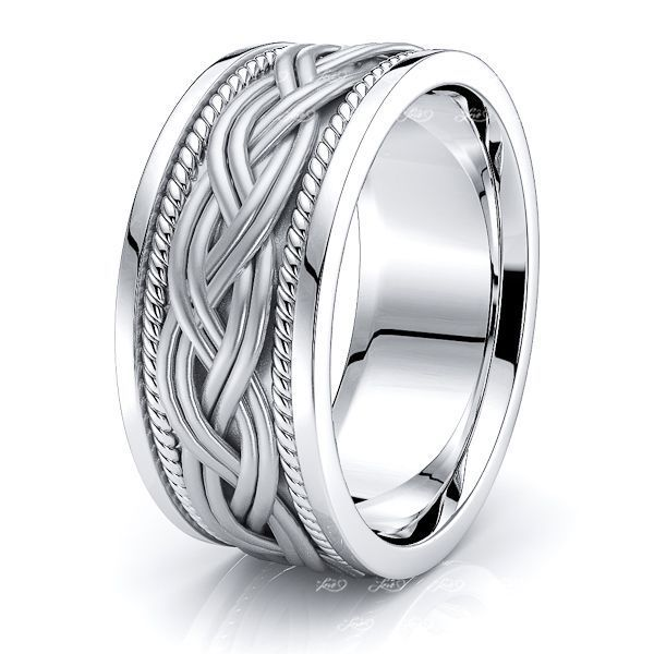 Hendrix Hand Woven Mens Wedding Band