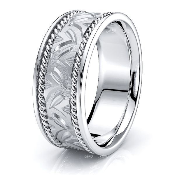 Chandler Mens Hand Braided Wedding Ring
