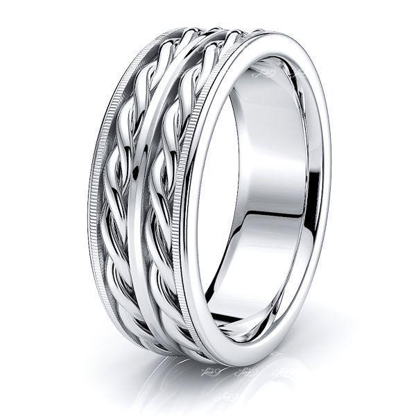 Rufus Hand Briaded Mens Wedding Ring