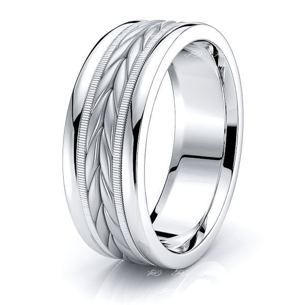 Reed Mens Hand Braided Wedding Ring