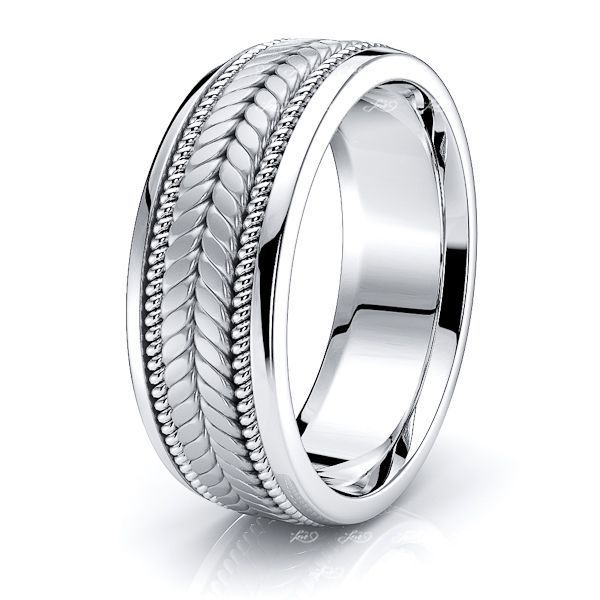 Walter Hand Woven Mens Wedding Band