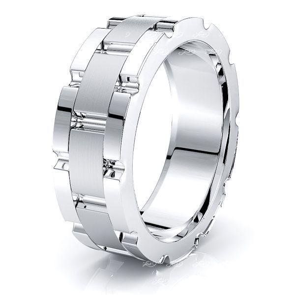 Ziggy Solid 8mm Mens Wedding Band