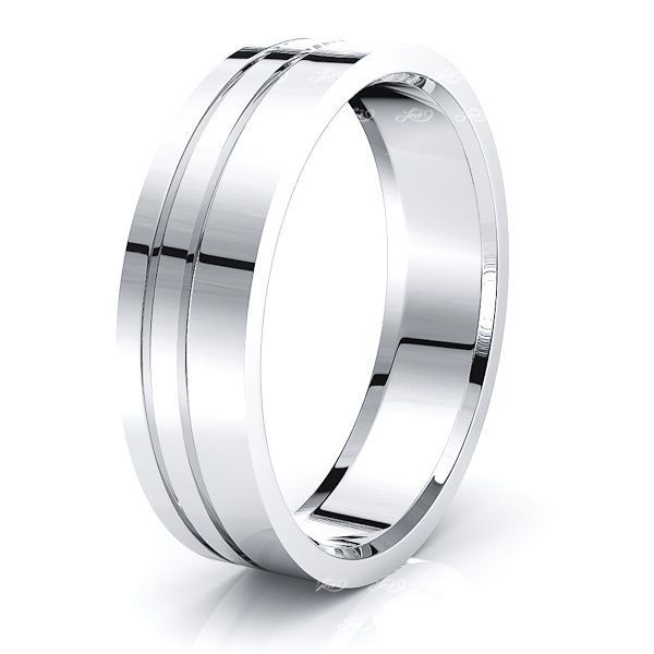 Kian Solid 7mm Mens Wedding Band