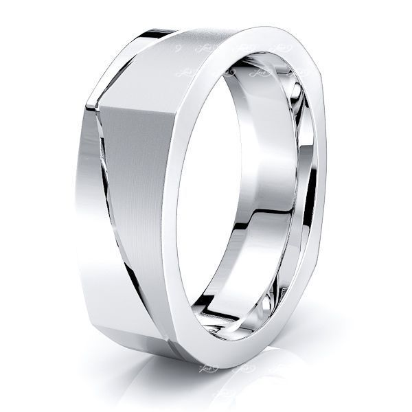 Cael Solid 7mm Square Mens Wedding Ring