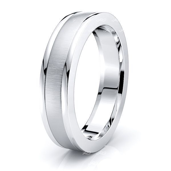 Tatiana Solid 5mm Mens Wedding Ring
