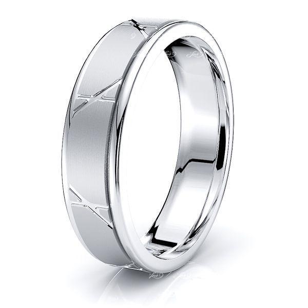 Talia Solid 6mm Mens Wedding Ring