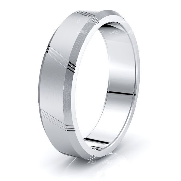 Coraline Solid 6mm Mens Wedding Ring