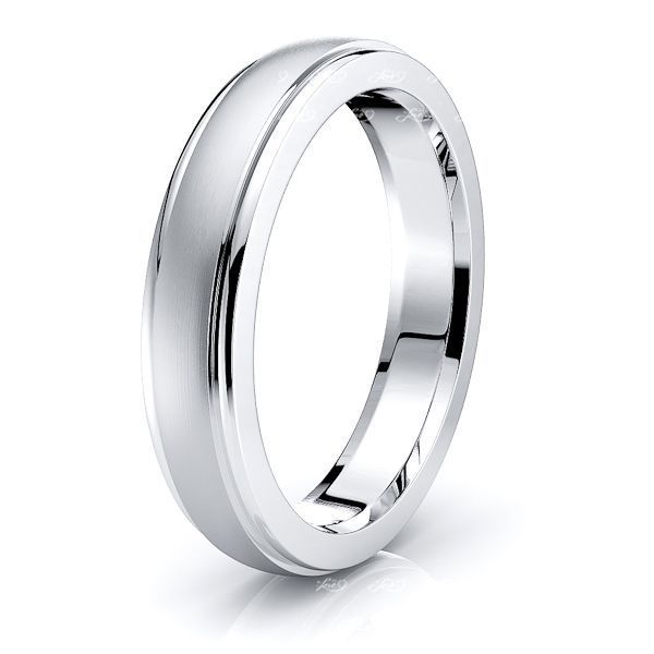 Nadia Solid 4mm Mens Wedding Band