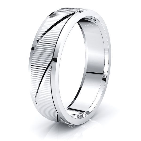 Amaya Solid 6mm Mens Wedding Ring