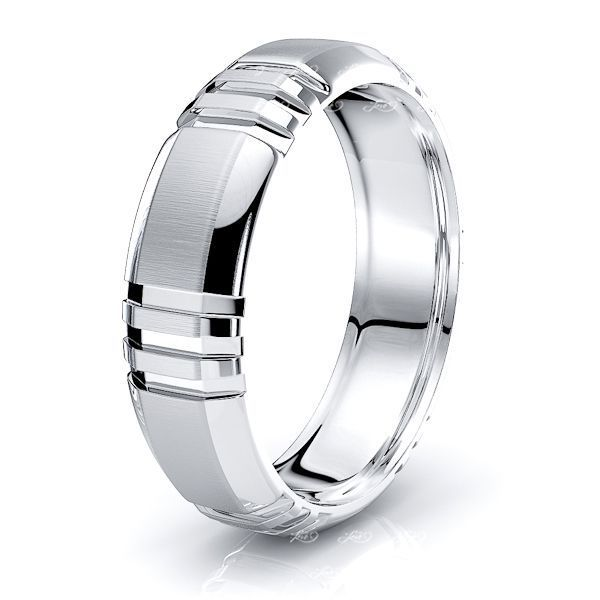 Jennifer Solid 6mm Mens Wedding Band