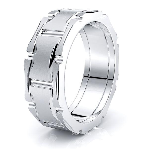 Senna Solid 8mm Mens Wedding Ring