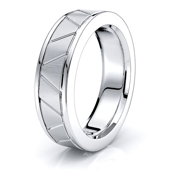 Gia Solid 6mm Mens Wedding Band