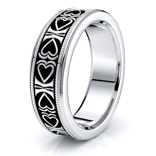 Reuben Solid 6mm Heart Mens Wedding Ring