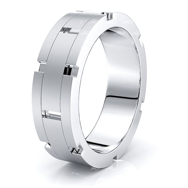 Tiberius Solid 7mm Mens Wedding Ring