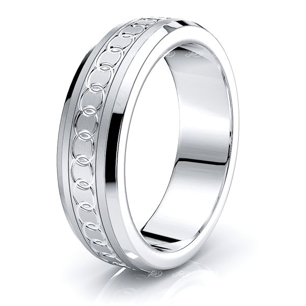 Avalon Solid 7mm Mens Wedding Ring