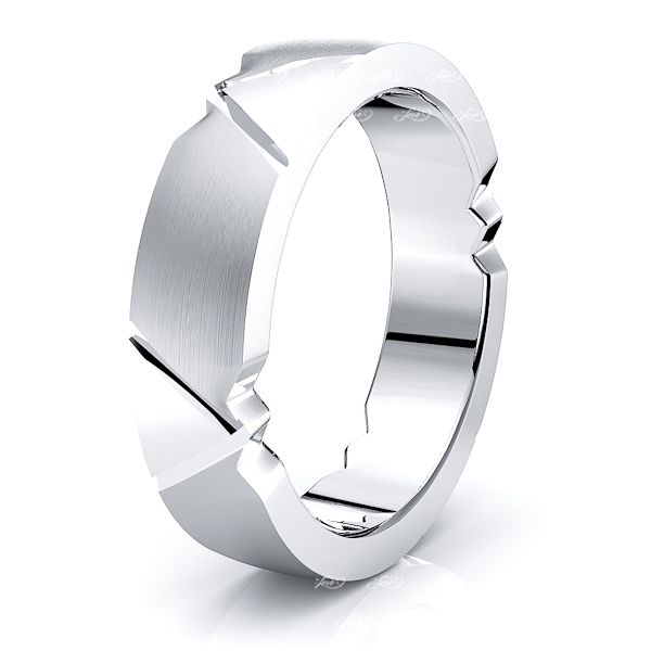 Gwendolyn Solid 6mm Mens Wedding Ring