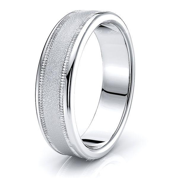 Gray Solid 6mm Mens Wedding Band