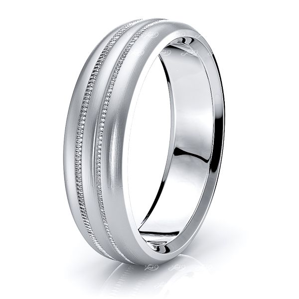 Bowen Solid 6mm Mens Wedding Ring