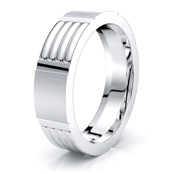 Neve Solid 6.5mm Mens Wedding Ring