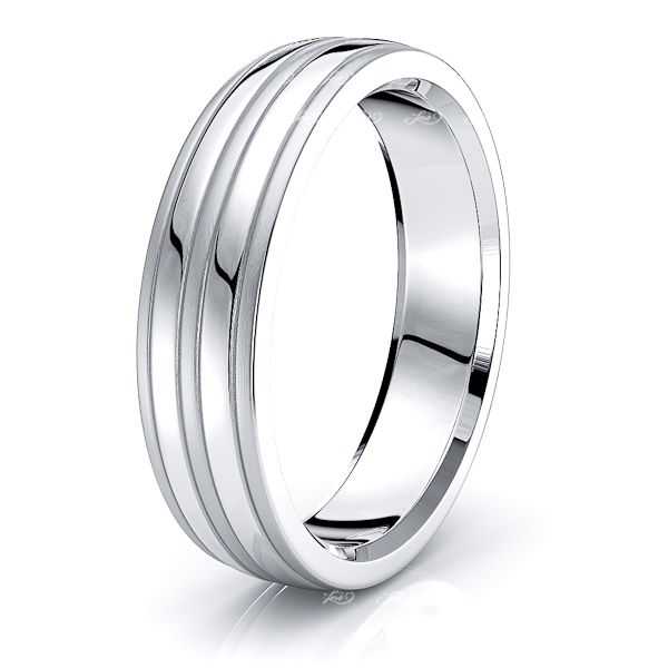 Annalise Solid 6mm Mens Wedding Ring