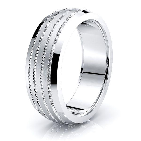 Balthazar Solid 8mm Mens Wedding Ring