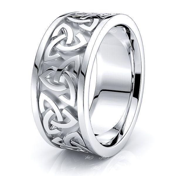 Rohan Trinity Knot Mens Celtic Wedding Ring