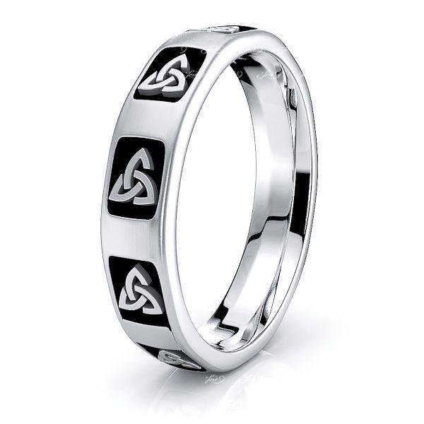 Meghan Trinty Knot Mens Celtic Wedding Ring