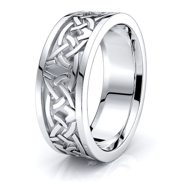 Colin Celtic Knot Mens Wedding Band