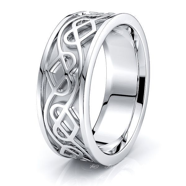 Arianrhod Celtic Heart Mens Wedding Ring