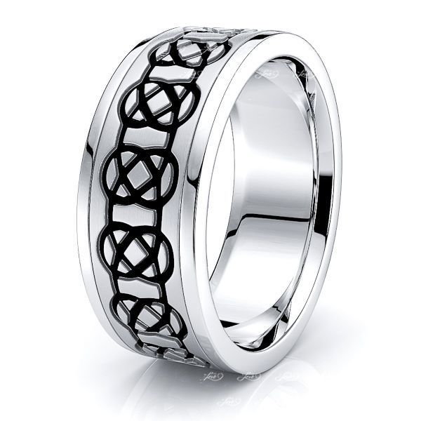 Aeslin Mens Celtic Wedding Band