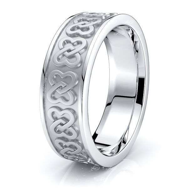Alfred Heart Mens Celtic Wedding Band