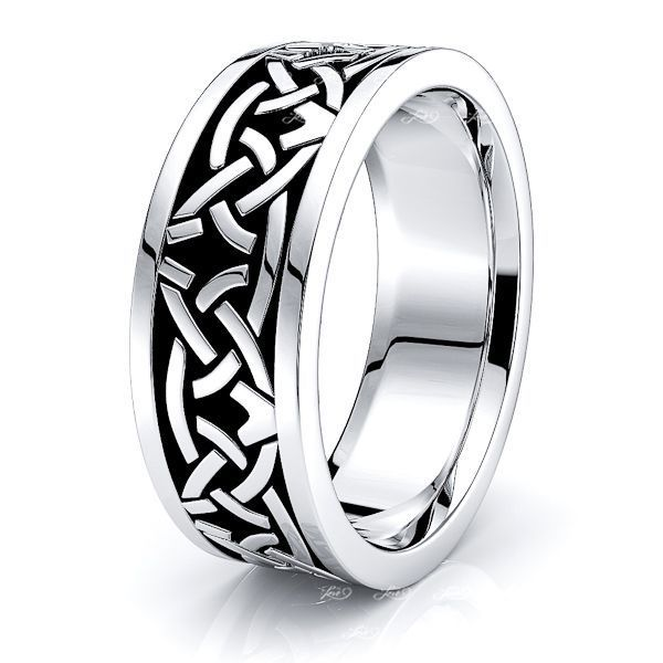Riley Celtic Knot Mens Wedding Ring