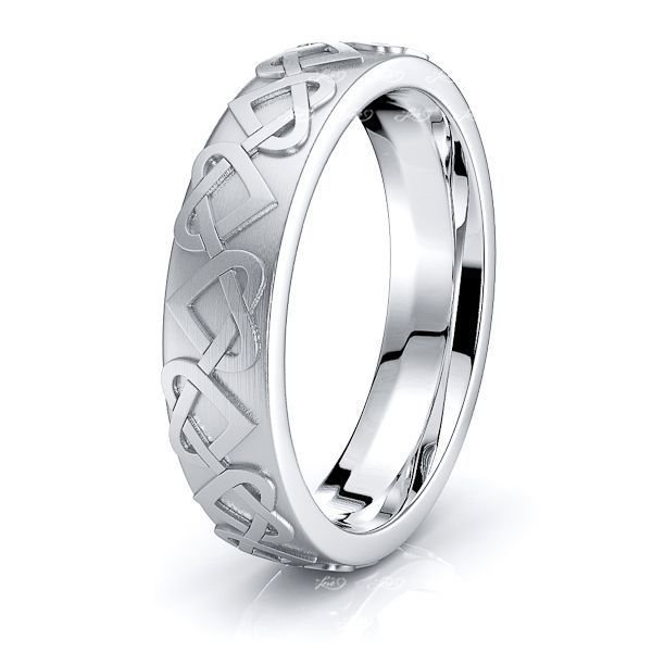 Jennifer Heart Mens Celtic Wedding Band